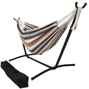 Sunnydaze Brazilian Double Hammock with Stand
