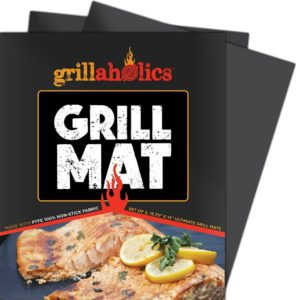 Grillaholics Grill Mat - Set of 2 Non Stick BBQ Grilling Mats