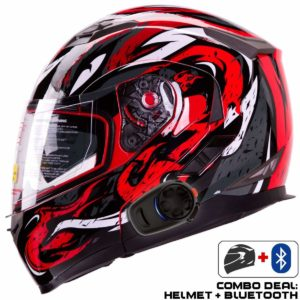 IV2 Helmet + Bluetooth Combo: Model 953 Dual Visor