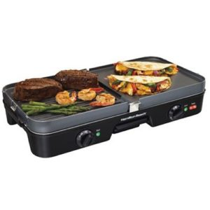 Hamilton Beach 38546 3 in 1 Electric Smokeless Indoor Grill