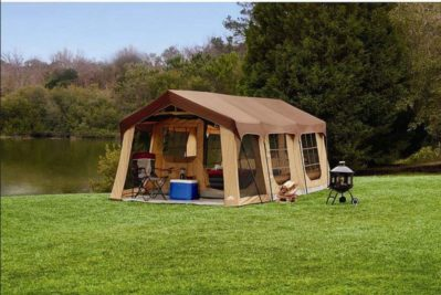 Large 10 Person Family Cabin Tent w/Front Porch