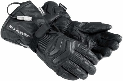 Tourmaster Synergy 2.0 Black Electrically Heated Leather Gloves