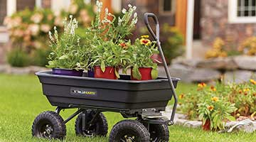 Gorilla Carts GOR4PS Poly Garden Dump Cart