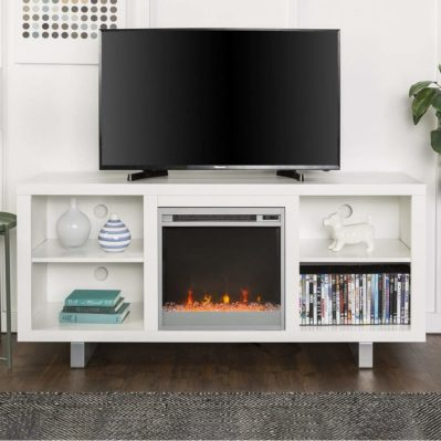New 58 Inch Wide Simple Modern Fireplace Television Stand