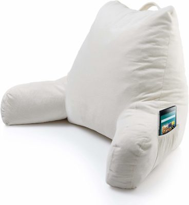 Keen Edge Home Reading Pillow with Arms and Pocket