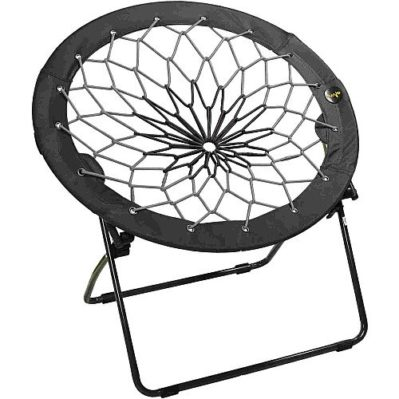 Bunjo Chairs Bungee Chair Black and Gray
