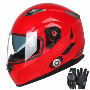 FreedConn-Motorcycle Bluetooth Helmets-Red