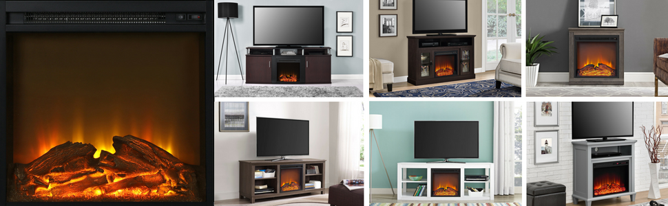 Ameriwood Home Electric Fireplace TV