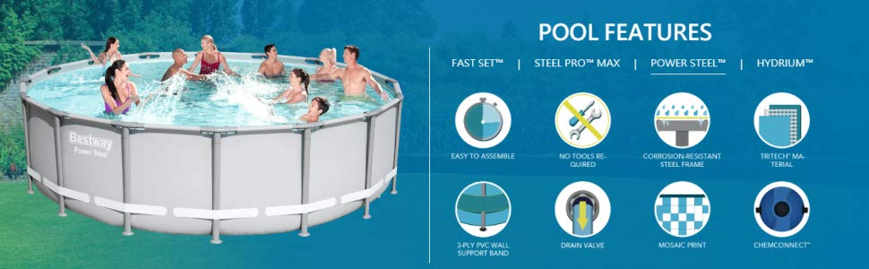 Bestway Power Steel Above Ground Pool