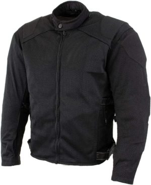 Xelement CF2157 Caliber Men Black Mesh Motorcycle Jacket