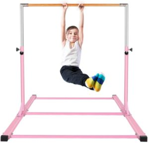 Gymnastics Bar for Kids Adjustable Horizontal Junior Training Kip Bars