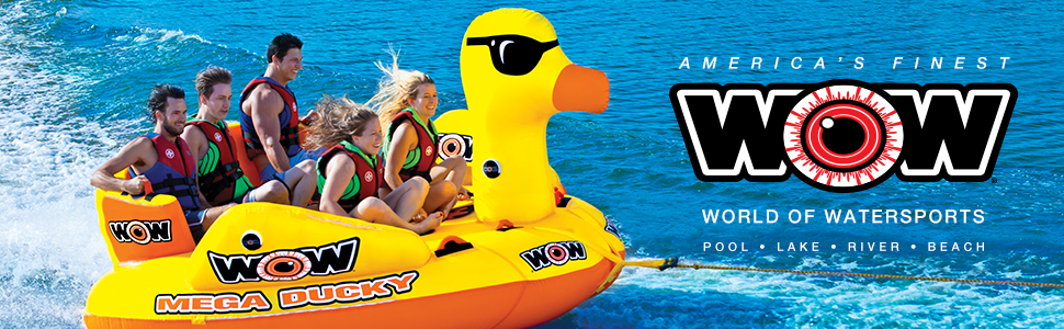 WOW Watersports Thriller Deck Tube Water Towable Tube Inflatable Boat Tube