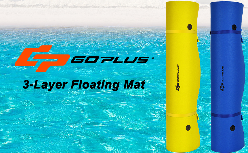 Goplus Floating Water Pad for Water Recreation and Relaxing