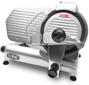 KWS MS-10NT Premium Commercial 320W Electric Meat Slicer 10-Inch