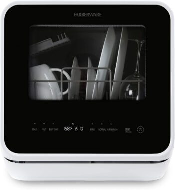 Farberware FDW05ASBWHA Complete Portable Countertop Dishwasher