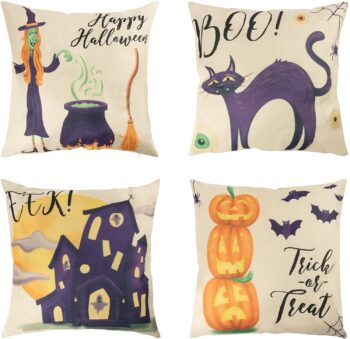Juvale Halloween Throw Pillow Cases