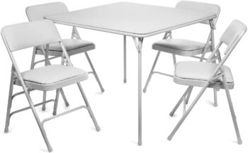 XL Series Vinyl Folding Card Table and Chair Set